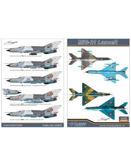 Decal 1/48 MiG-21 LanceR