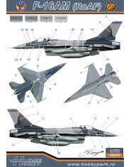 Decal 1/72 F-16AM/BM (F.A.R.)