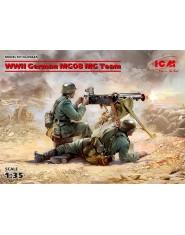 WWII German MG08 MG Team