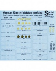 DECAL German Panzer Division marking / PART. 1 /