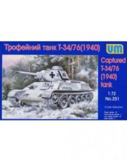 T-34-76 WW2 captured tank, 1940