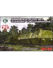 Armored train of type OB-3 ,,Railroader,,