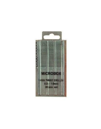 Microbox Drill Set (20) 0.3 to 1.6mm