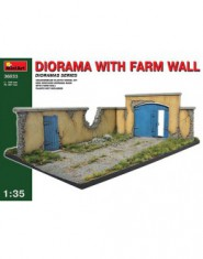 Diorama with farm wall