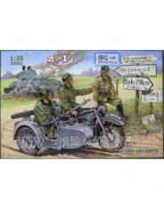 BMW R12 with sidecar military versions
