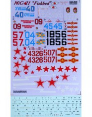 DECAL Mig-21 ,,Fishbed,,