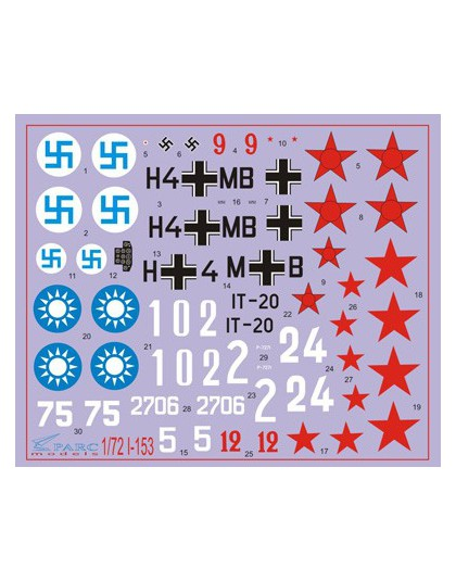 Decal 1/72 I-153