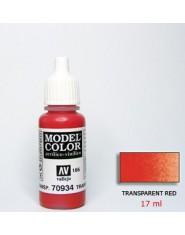 TRANSPARENT RED acrilic (17 ml)
