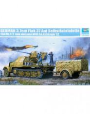 German 3.7cm Flak 43 Auf Selbstfahrafette (Sd.Kfz.7/2 late version) with Sd.Anhanger 52