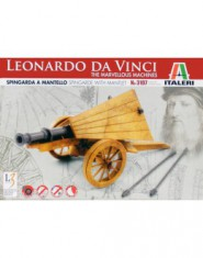 LEONARDO DA VINCI Spingarda a mantello-Spingarde with mantlet