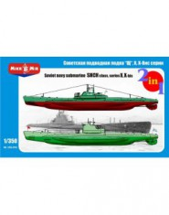Soviet submarines ,,Shch,, class, series X, X-bis (2 kits in the box)