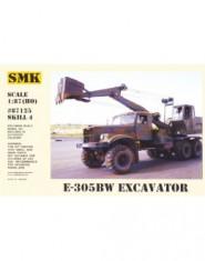 Excavator E-305BW on Kraz 255