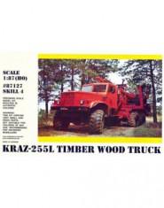 Kraz 255L timber wood truck
