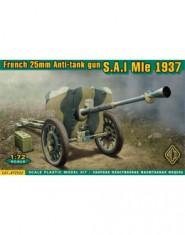 S.A.I Mle 1937 French 25mm anti-tank gun