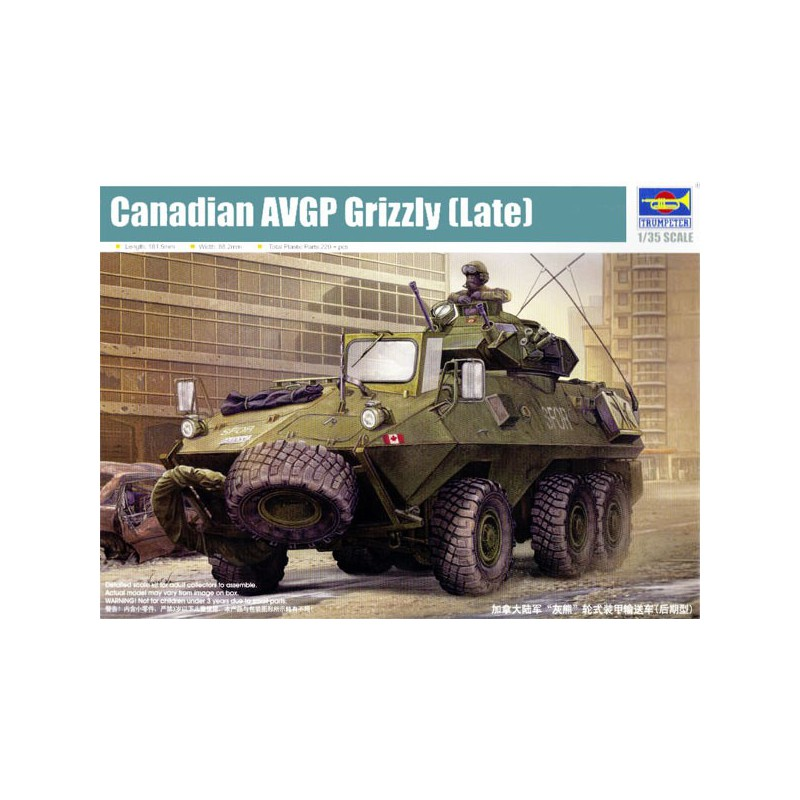 Trumpeter 1//35 Canadian 01505 AVGP Grizzly Late Version