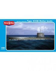 German submarine type XVIIB Walter boats