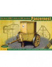 German WW2 mobile MG bunker PANZERNEST