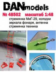 Aircraft ladders MiG-29, chocks, mirrors, antena