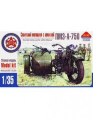 PMZ-A-750 Soviet motorcycle with sidecar