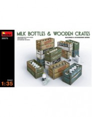 Milk bottles & Wooden crates