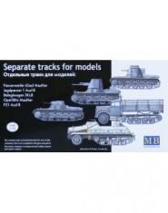 Separate tracks for: Panzerwerber 42auf Maultier; Jagdpanzer 1 Ausf B; Befeglwagen 3KLB; Opel Blitz