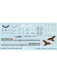 DECAL BOEING 737-300 BULGARIA AIR
