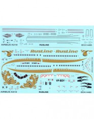 DECAL AIRBUS A 319 RUSLINE