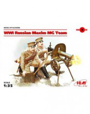 WWI Russian Maxim MG Team (2 figures)