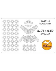Masca Il-76 (all mods) + wheels masks (Zvezda)