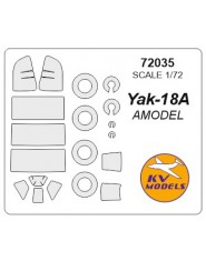 Masca Yak-18A + wheels masks (Amodel)