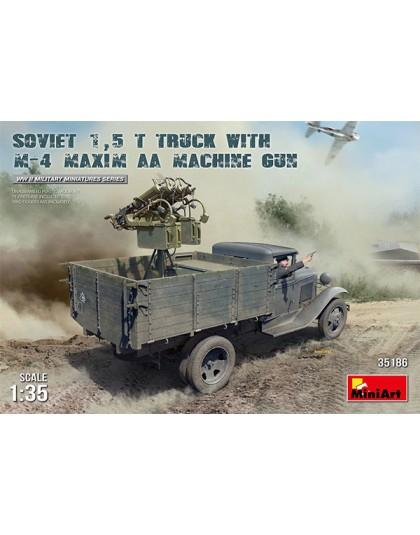 SOVIET 1,5 t. TRUCK w/ M-4 Maxim AA Machine Gun