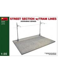 STREET SECTION w/TRAM LINES